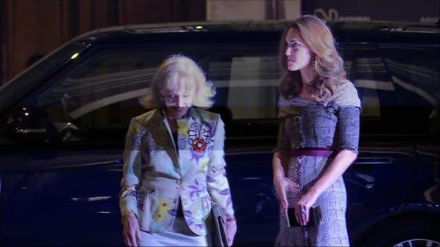 exterior shots of catherine duchess of cambridge arriving at the victoria and albert museum on 10 october 2018 in london united kingdom - victoria and albert museum london stock videos & royalty-free footage