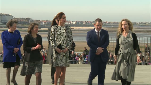 Exterior shots of Catherine Duchess of Cambridge arriving at the Turner Contemporary gallery in Margate>> on March 11 2015 in Margate England
