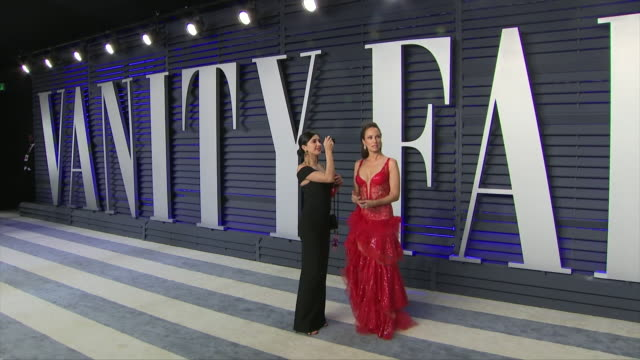 exterior shots of catt sadler on the red carpet of the 2019 vanity fair oscar party on 24th february 2019 in los angeles, united states. n.b.... - oscar party stock videos & royalty-free footage