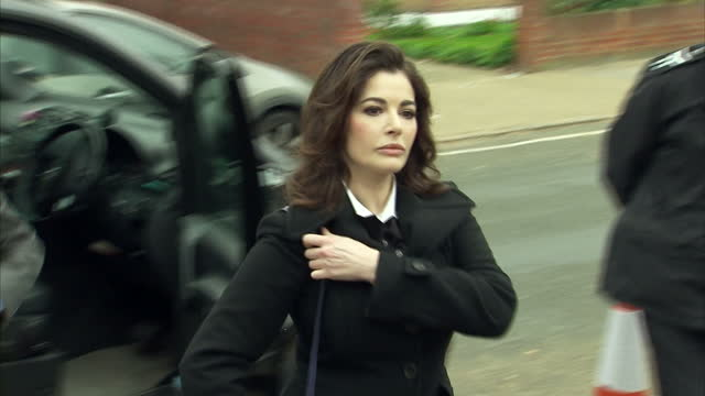 Exterior shots of celebrity chef Nigella Lawson arriving at Isleworth Crown Court to give evidence at the trial of her former assistants Francesca...