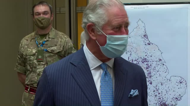 exterior shots of charles, prince of wales and camilla duchess of cornwall visiting skipton house and speaking with various members of staff involved... - skipton stock videos & royalty-free footage