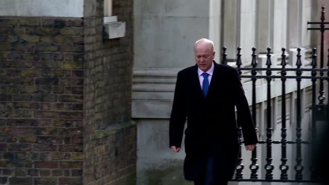 Exterior shots of Chris Grayling MP walking to Downing Street on 31 January 2017 in London United Kingdom