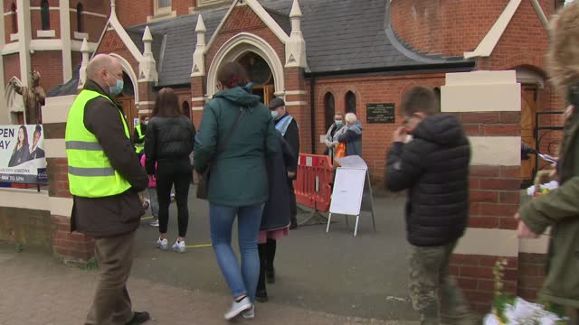 exterior shots of christ the king polish church in balham after the police shut down a good friday service for breaching coronavirus rules on 3 april... - eastern european culture stock videos & royalty-free footage