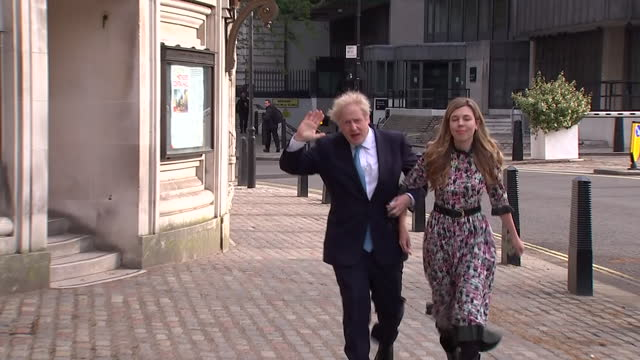 GBR: Conservative Party Leader Boris Johnson casts his vote in the London Assembly and Mayoral elections