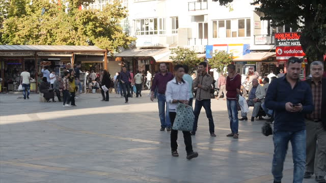 Exterior shots of crowds of shoppers and traffic in Gaziantep's city centre on October 10 2015 in Gaziantep Turkey