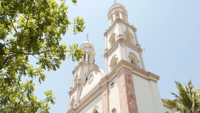 exterior shots of culiacan cathedral on june 08 2015 in culiacan mexico - drug cartel murder stock videos & royalty-free footage