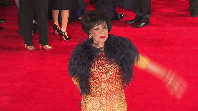 exterior shots of dame shirley bassey attending the royal world premiere of 'spectre' at royal albert hall on october 26 2015 in london england - film premiere stock videos & royalty-free footage