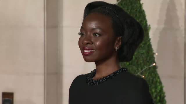 exterior shots of danai gurira on the bafta after party red carpet on wearing a custom thom browne fall 2018 gown10th february 2019 in london england... - 英国アカデミー映画賞点の映像素材/bロール