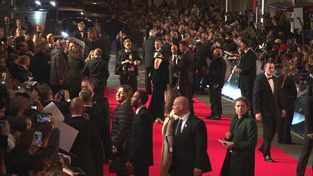Exterior shots of Daniel Craig posing for photo's signing autographs and taking selfies at the Royal World Premiere of 'Spectre' at Royal Albert Hall...