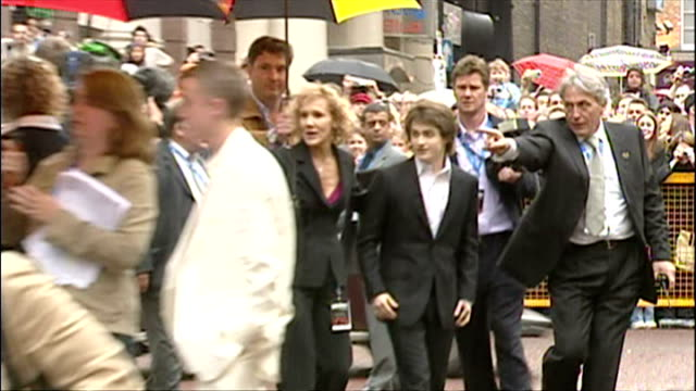 Exterior shots of Daniel Radcliffe arriving at the premiere of Harry Potter and the Prisoner of Azkaban on May 30 2004 in London England