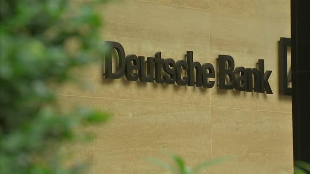 exterior shots of deutsche bank headquarters on september 13 2014 in london england - deutsche bank stock videos & royalty-free footage