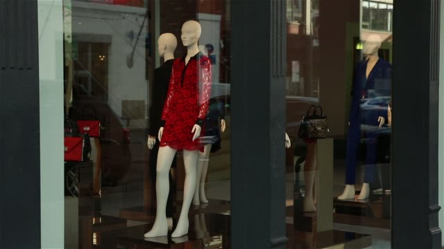 exterior shots of diane von furstenburg's flagship boutique in the meatpacking district of manhattan new york on september 27th 2015 shots various... - window display stock videos and b-roll footage
