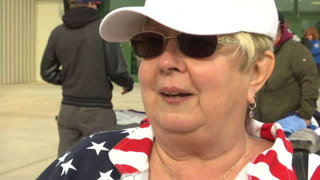 exterior shots of donald trump supporters giving their opinions about the found emails from hillary clinton and whether it'll affect undecided voters... - e mail stock videos & royalty-free footage
