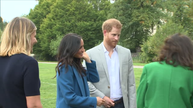 exterior shots of duchess of sussex meghan markle and prince harry arriving at the cookbook launch on the 20th september 2018 at london united kingdom - prince harry stock videos & royalty-free footage