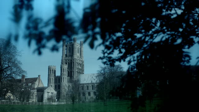exterior shots of ely cathedral - toned image stock videos & royalty-free footage