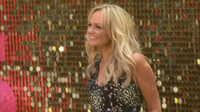 Exterior shots of Emma Bunton posing on the gold carpet at the premiere of Absolutely Fabulous The Movie>> on June 29 2016 in London England