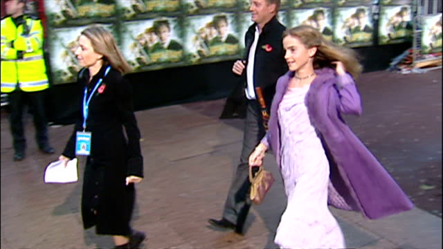 exterior shots of emma watson arriving at the premiere of harry potter and the chamber of secrets on november 3 2002 in london england - potter stock videos & royalty-free footage