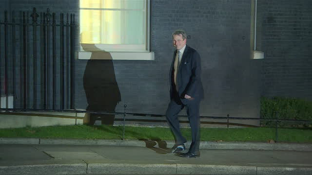 Exterior shots of employment minister Damian Hinds arriving at Number 10 Downing Street before being appointed as Education Secretary in Theresa...