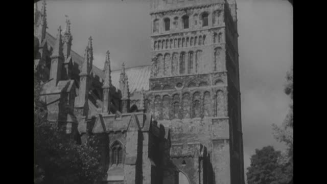 exterior shots of exeter cathedral - exeter cathedral stock videos & royalty-free footage