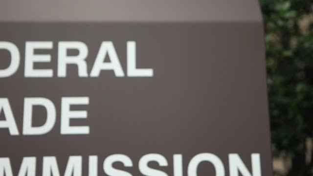 exterior shots of federal trade commission / federal trade commission signage us federal trade commission building sign at federal trade commission... - federal building stock videos and b-roll footage