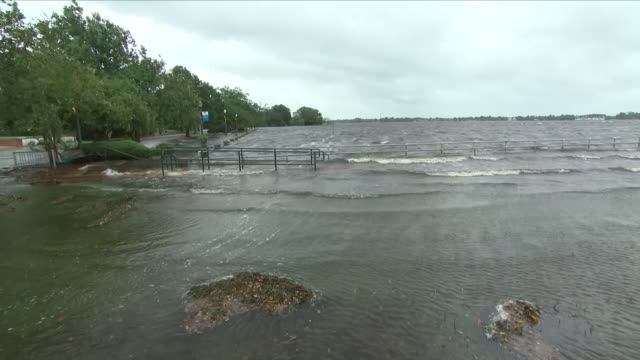 exterior shots of flooded parkland after hurricane florence on 14 september 2018 in new bern united states - wilmington north carolina stock-videos und b-roll-filmmaterial