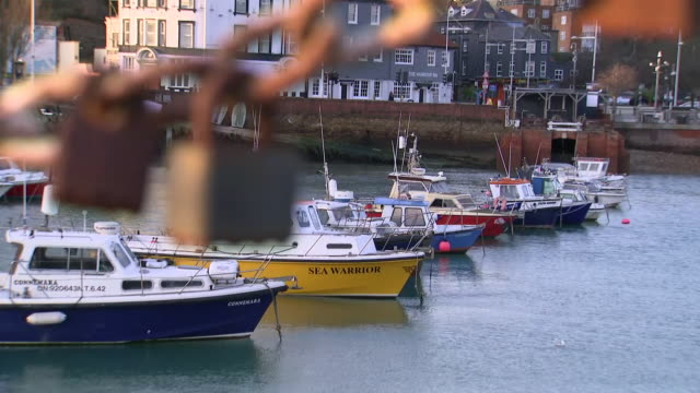 exterior shots of folkstone harbour and coastline on 25 december 2018 in kent united kingdom - kent england stock videos & royalty-free footage