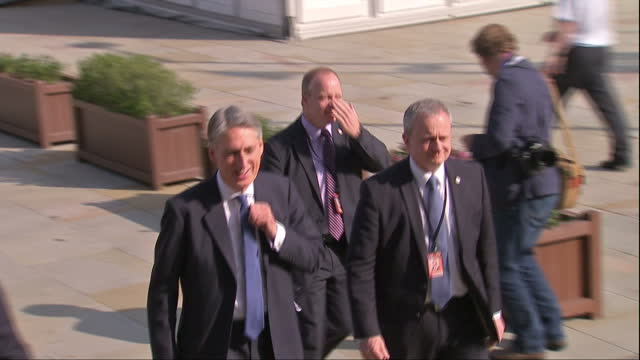 Exterior shots of Foreign Secretary Philip Hammond arriving at the Conservative party conference>> on October 04 2015 in Manchester England
