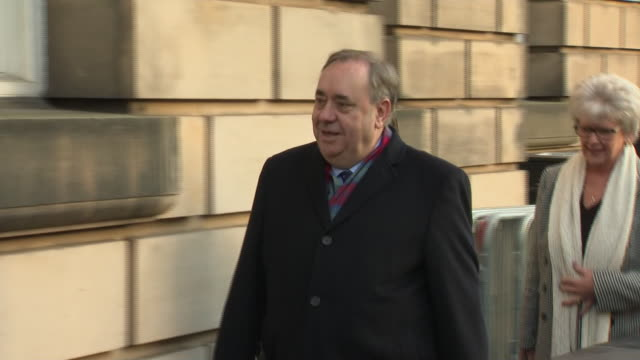 exterior shots of former scottish first minister alex salmond arrives to court for preliminary hearing charged with two counts of attempted rape... - alex salmond stock videos & royalty-free footage