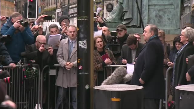 exterior shots of former scottish first minister alex salmond leaving court after his acquittal on 23 march 2020 in edinburgh scotland - alex salmond stock videos & royalty-free footage