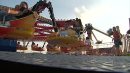 Trumbull County Fair 2020.Exterior Shots Of Fun Fair Rides In Action At The Trumbull County Stock Footage Video