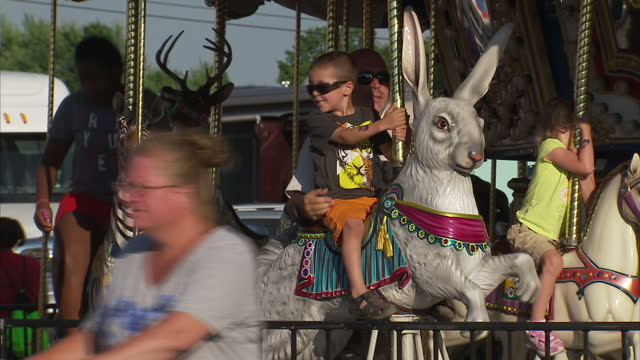 Trumbull County Fair 2020.Exterior Shots Of Fun Fair Rides In Action At The Trumbull
