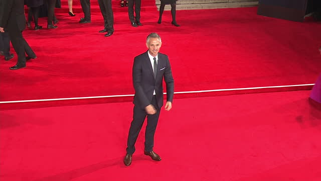 Exterior shots of Gary Lineker attending the Royal Film Performance of 'Spectre' at the Royal Albert Hall on October 26 2015 in London England
