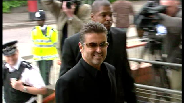 Exterior shots of George Michael arriving at Brent Magistrates Court for trial on driving offences on May 08 2007 in London England