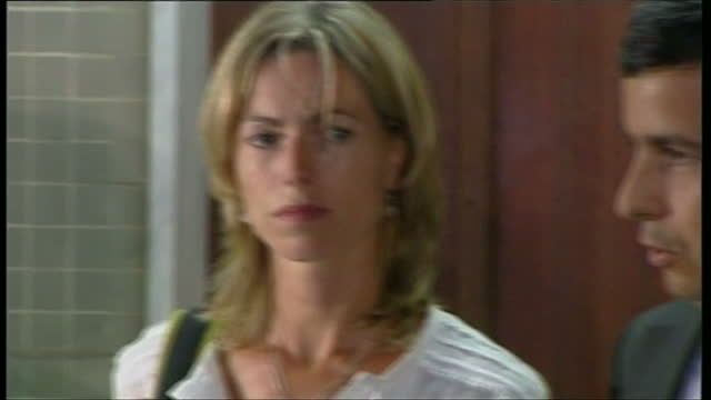 exterior shots of gerry mccann walking into portimao police station where his wife kate mccann is being questioned over the disappearance of their... - kate mccann stock videos & royalty-free footage