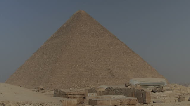 Exterior shots of Great Pyramid of Cheops on November 11 2014 in Cairo Egypt