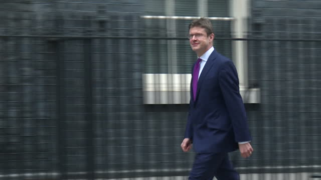 Exterior shots of Greg Clark Secretary of State for Business Energy and Industrial Strategy and Health Secretary Jeremy Hunt arriving at Number 10...