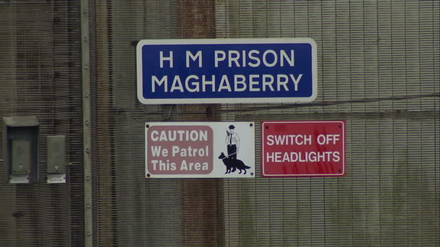 exterior shots of h m prison maghaberry with security perimeter fencing with barbed wire security entrance on march 01 2016 in omagh northern ireland - northern ireland stock videos & royalty-free footage