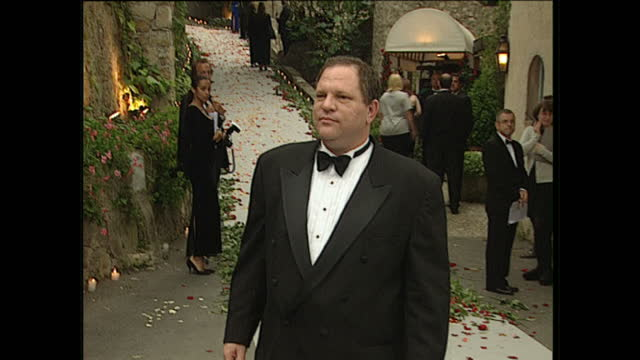 Exterior shots of Harvey Weinstein at the AMFAR Gala held during the Cannes Film Festival on May 21 1998 in France