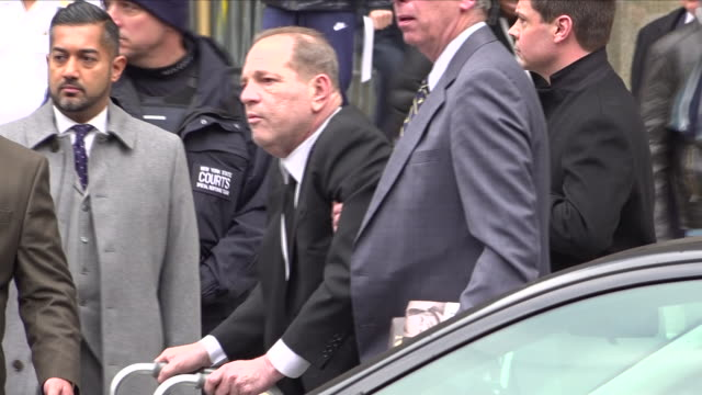 exterior shots of harvey weinstein departing the state supreme court after first day of trial on january 06 2020 new york city usa - sexual violence stock videos & royalty-free footage