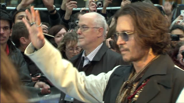 Exterior Shots Of Helena Bonham Carter With Tim Burton And Johnny Depp On The Red Carpet