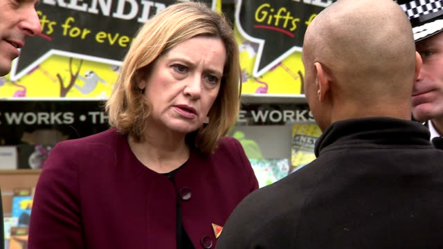 exterior shots of home secretary amber rudd visiting the scene near where former russian spy sergei skripal and his daughter yulia were discovered... - sergei skripal stock videos and b-roll footage