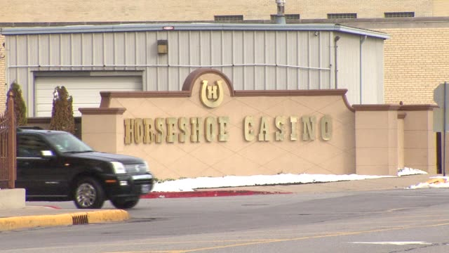 exterior shots of horseshoe casino in hammond indiana where 51yearold scott farrow won money and was later shot and robbed of his winnings in his... - winnings stock videos and b-roll footage