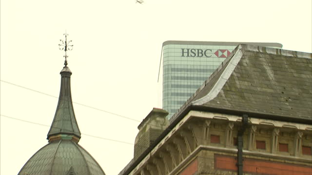 Exterior shots of HSBC HQ on February 08 2012 in London England