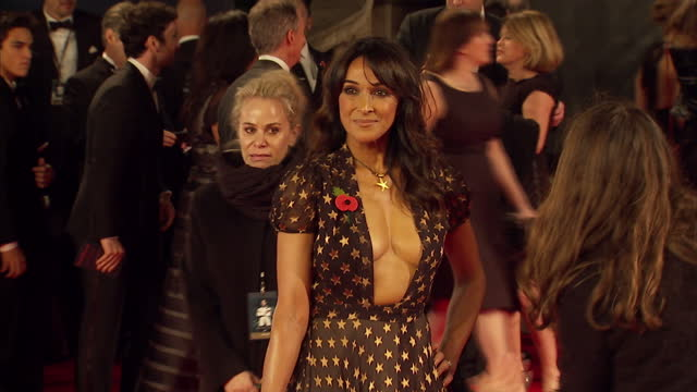 exterior shots of jackie st clair attending the royal world premiere of 'spectre' at royal albert hall on october 26 2015 in london england - spectre 2015 film stock videos and b-roll footage