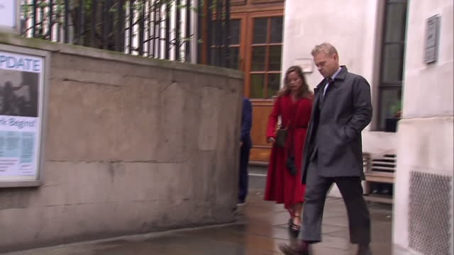 exterior shots of jade jagger arriving at st brides church for the wedding of rupert murdoch and jerry hall on march 05 2016 in london england - rupert murdoch stock videos and b-roll footage
