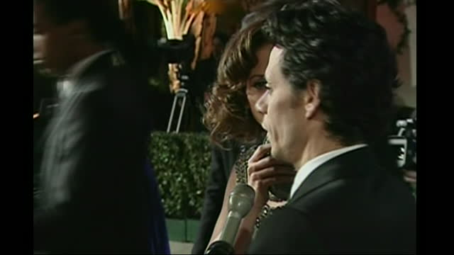 exterior shots of jennifer lopez and marc anthony arriving at vanity fair party after the oscars on 25 february 2007 in hollywood, united states. - oscar party stock videos & royalty-free footage