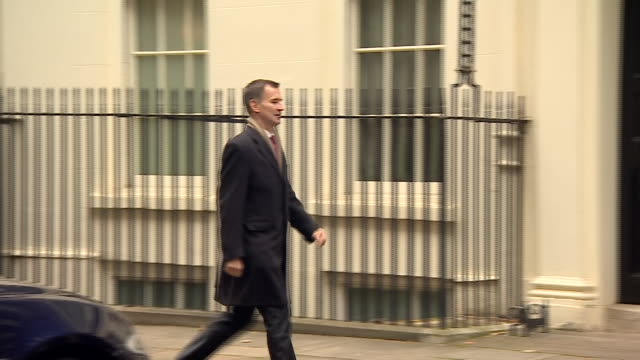 Exterior shots of Jeremy Hunt MP Secretary of State for Foreign Affairs arriving for cabinet meeting on 6th November 2018 in London England