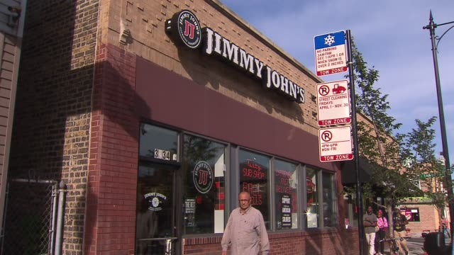 exterior shots of jimmy john's gourmet sandwiches after a data breach on sept 24 2014 - data breach stock videos and b-roll footage