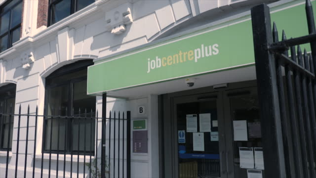 exterior shots of job centre plus on a high street on 12th may 2020 in london, england - job centre stock videos & royalty-free footage