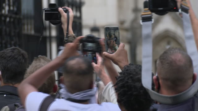 exterior shots of johnny depp departing the royal courts of justice on 28 july 2020 in london united kingdom - johnny depp stock videos & royalty-free footage